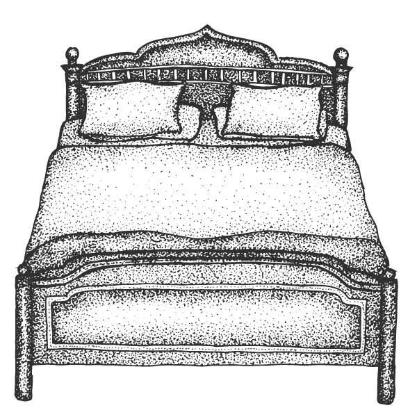 Double bed illustration