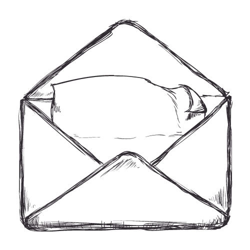 Email icon illustrated
